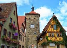 Wspaniały wierza i budynki w Niemcy Obraz Stock