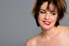 wspaniała włosiana krótka kobieta Zdjęcie Stock