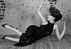 Wspaniała Wysoka Moda Projektująca Kobieta Fotografia Royalty Free