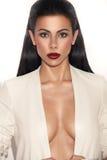 wspaniałego neckline target481_0_ kobieta Zdjęcie Stock