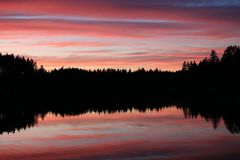 Wspaniali nieba w stan washington zdjęcie stock