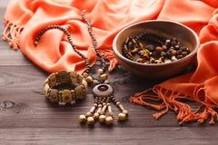 Wspaniali semiprecious kamienni koraliki dla robić biżuterii Zdjęcia Stock