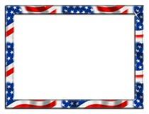 wspaniały ramowy graniczny patriotą Zdjęcia Royalty Free