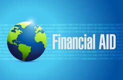 wsparcie finansowe kuli ziemskiej znaka międzynarodowy pojęcie royalty ilustracja