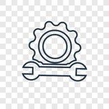 Wspiera pojęcie wektorową liniową ikonę odizolowywającą na przejrzystym backg royalty ilustracja