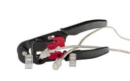 Wspinać się kahatów włączniki i sieć kabel Zdjęcie Stock