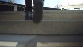 Wspinać się schodki, niskiego kąta strzał zbiory
