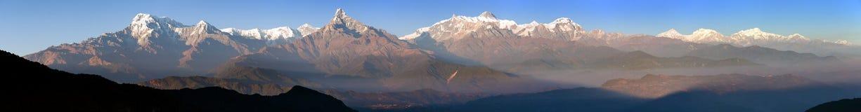 Wspina się Annapurna i Mt Manaslu Nepal himalajów góry obraz royalty free
