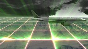 Wspina się głąbika przy chmurnym dniem z rozjarzonymi siatkami zbiory wideo