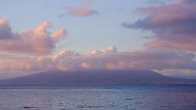 Wspina si? Vesuvius timelapse z chmurami stacza si? nad sw?j szczytem zdjęcie wideo