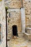 Wspina się Zion, Jerozolima, Stary miasteczko, blisko królewiątka David grobowa zdjęcie royalty free