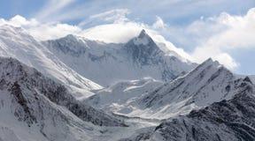 Wspina się Khangsar Kanga Roc Noir, Annapurna pasmo Zdjęcie Royalty Free