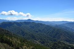 Wspina się Ulap, mt Ulap, Cordilleras pasma górskie, Ampucao pasma górskie, Ampucao, Itogon, Benguet, Filipiny Zdjęcia Royalty Free