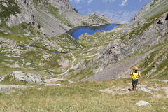 Wspinać się w Belledonne pasmie górskim Zdjęcie Stock