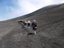 Wspinaczka wulkan Etna, Włochy - zdjęcia royalty free