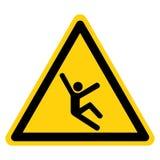 Wspinaczki zagrożenia symbolu znak Odizolowywa Na Białym tle, Wektorowa ilustracja ilustracji
