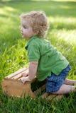 Wspinaczkowa chłopiec Obrazy Royalty Free