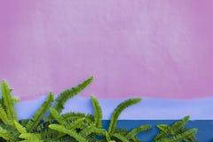 Wspinaczkowa roślina na ścianie Zdjęcia Stock