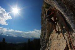 wspinaczkowa skała Fotografia Stock