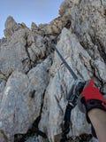 Wspinaczkowa trasa w skałach obraz stock