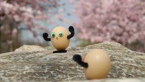 Wspinaczkowi śmieszni jajka zdjęcie wideo