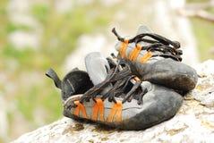 wspinaczkowi buty Zdjęcie Stock