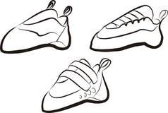 wspinaczkowi buty Zdjęcie Royalty Free