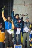 wspinaczkowy filiżanki finalistów lodu trzy świat Obraz Royalty Free