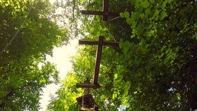 Wspinaczkowy przygoda park zbiory wideo