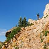 wspinaczkowy wycieczkowicza wspinaczkowy ślad Fotografia Royalty Free