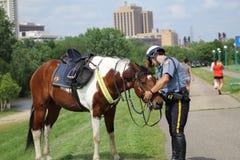 wspinająca się policja Fotografia Royalty Free