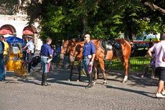 Wspinająca się policja w Verona, Włochy Fotografia Royalty Free