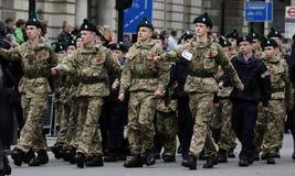 2015, wspominanie dnia parada, Londyn Fotografia Royalty Free