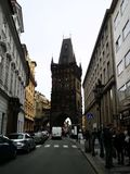Wspominki podróż - Prochowy wierza, Praga zdjęcia royalty free
