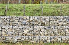 Wspornikowej ściany gabion Zdjęcia Stock