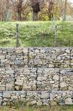 Wspornikowej ściany gabion Zdjęcia Royalty Free