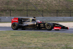 WSR Budapest, Hungary - JULY 3:. Lotus Renault F1 GP car on the Hungaroring race track at World Series by Renalut,on July 3, 2011 in Budapest, Hungary royalty free stock photography