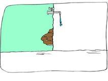 Wässern Sie Bratenfett von einem alten Hahn Lizenzfreie Stockbilder