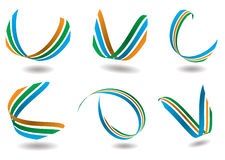 wstążka logo Obrazy Royalty Free