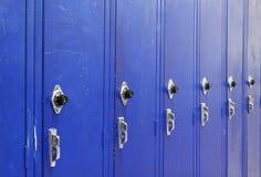 wstępujące błękitny szafki Zdjęcia Royalty Free