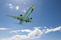 Wstępujący samolot Fotografia Royalty Free
