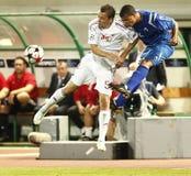 wstawia się Debrecen ligowego levski Sofia uefa vs Fotografia Royalty Free