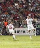 wstawia się Debrecen ligowego levski Sofia uefa vs Obrazy Stock