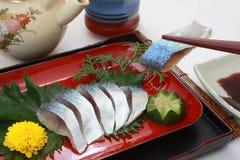 Wstawiony Skumbriowy Vinegared Mackerelï ¼ ‰, Japoński jedzenie fotografia royalty free