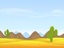 Wüsten-Landschaftshintergrund Stockbild