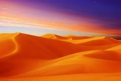 Wüstensonnenuntergang Lizenzfreie Stockfotos