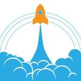 Wszczynać Astronautycznej rakiety tło Zdjęcie Stock