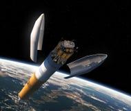 Wszczynać Międzyplanetarna stacja kosmiczna royalty ilustracja