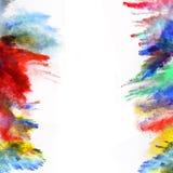Wszczynający kolorowy proszek na białym tle royalty ilustracja