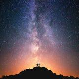 Wszechświat dla dwa obraz royalty free